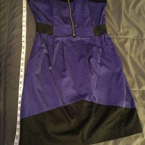 Used H&M purple & Black mini dress size 8 #119